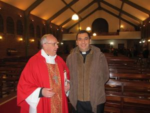 Father Facundo with Cardinal Bergoglio